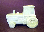 Tractor Figurine, Green Glass