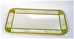 Brass/gold Tone Mirrored Tray/wall Accent