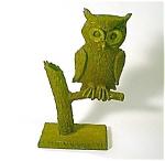 Cast Iron Owl On Branch Door Stop