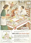 1949 Simtex Mills Cloths Ad Sheet