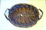 Woven Reed Basket, Shallow Handled