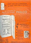 1949 Philco Refrigerator Ad Sheet