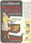 1949 Hotpoint Pushbutton Cooking Ad Sheet