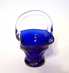Cobalt Blue Glass Mini. Basket