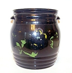 Black Amethyst Glass Cookie Jar
