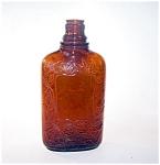 Brown Glass Bottle, Flask Shape