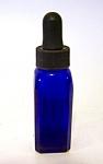 Rubber Capped, Cobalt Blue Glass Bottle