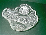 Crystal Fan Shaped Relish Dish