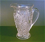 Clear Cut Glass Pitcher