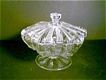 Clear Covered Footed Compote