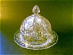 Clear Pressed Glass Butterdish