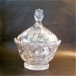 Crystal Covered Compote, Large