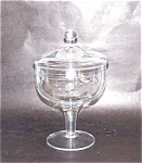 Etched Ptn. Crystal Covered Compote