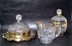 Gold Decorated Table Set, Crystal