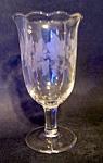 Etched Crystal Pedestal Vase