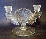 Crystal Candleholder, Double Branch