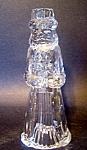 Crystal Santa Candlestick, Candleholder