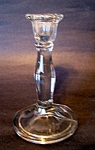 Clear, Crystal 6 Panel Candlestick, Candleholder