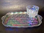 Irridized Snack Tray And Cup Set, Yorktown,