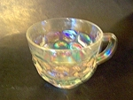 Cup Irridized, Federal Glass, Yorktown