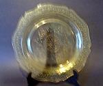 Amber Patrician Spoke Plate, Federal Glass