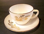 Meadow Gold Ptn. Cup, Saucer Set