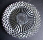 Clear Plate, Waterford/waffle Pattern