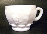 Punch Cup Grape Pattern, Milk Glass