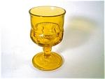 Amber Kings Crown Wine Glass