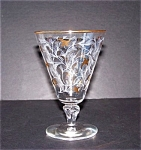 Gold Decorated Stemmed Tumbler