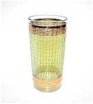 Green Tumbler Gold Trim