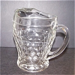 Crystal Glass Pitcher, Georgian Ptn.