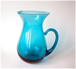 Old Morgantown Pitcher, Peacock Blue