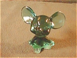 Fenton Green Mouse Figurine
