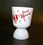 Fire King Egg Cup Rooster Decorated