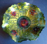 Bowl, Goofus Glass Rayed Bottom