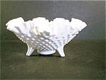 Fenton Milk Glass Hobnail Bowl
