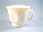 Milk Glass Cup, Thumbprint Ptn.