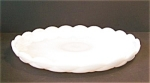 Milk Glass Shallow Tray, Bowl. Quilted Ptn.