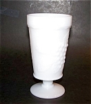 Milk Glass Footed Tumbler, Indiana Glass