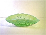 Green Opalescent Pressed Glass Dish