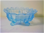 Blue Opalescent Ptn. Glass Bowl,klondike