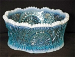 Blue Op. Bowl/nappy,star And Arch Pattern