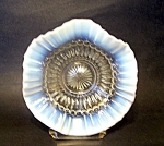 Opalescent Bowl, Ruffled Top.