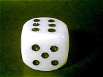Dice Glass Paperweight