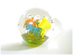 Red Yellow Blue Glass Paperweight