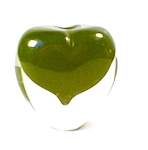 Glass Heart Shape Paperweight, Penholder