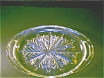 Pressed Glass Oval Tray