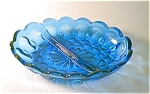 Blue, Divided Relish Dish