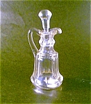 Clear Glass Cruet, Flat Panel